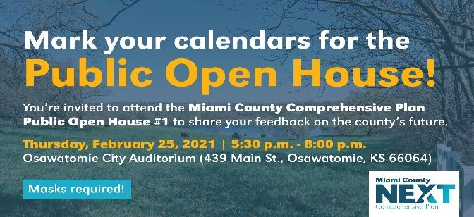 Miami County Comprehensive Plan is hosting a Public Open House